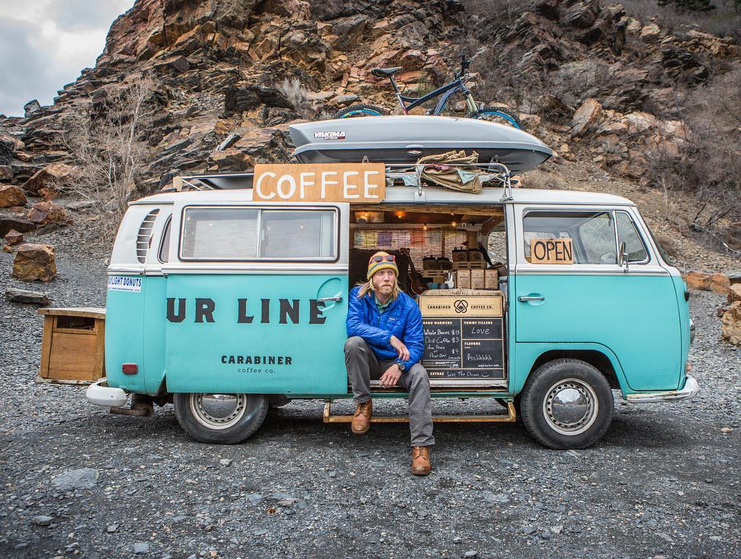 ~ Monday Inspiration ~  New blog post up on our site about our good bud Erik from @carabinercoffee .  Erik and his trusty VW bus Ol' Blue are traveling around the country promoting positivity and love one delicious cup of coffee at a time. Follow the...