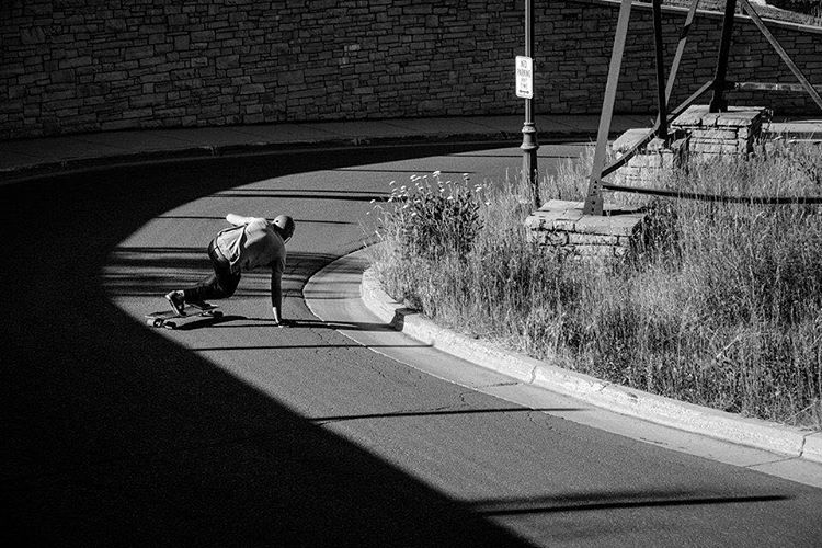 Team rider @seanwoolery1 recently his us up with some great skate photos by Doug Toleman (@avant_gnar)  featuring some local spots in Utah on the Keystone. Click the link in our bio for more photos and info.  #dblongboards #longboard #skateutah...