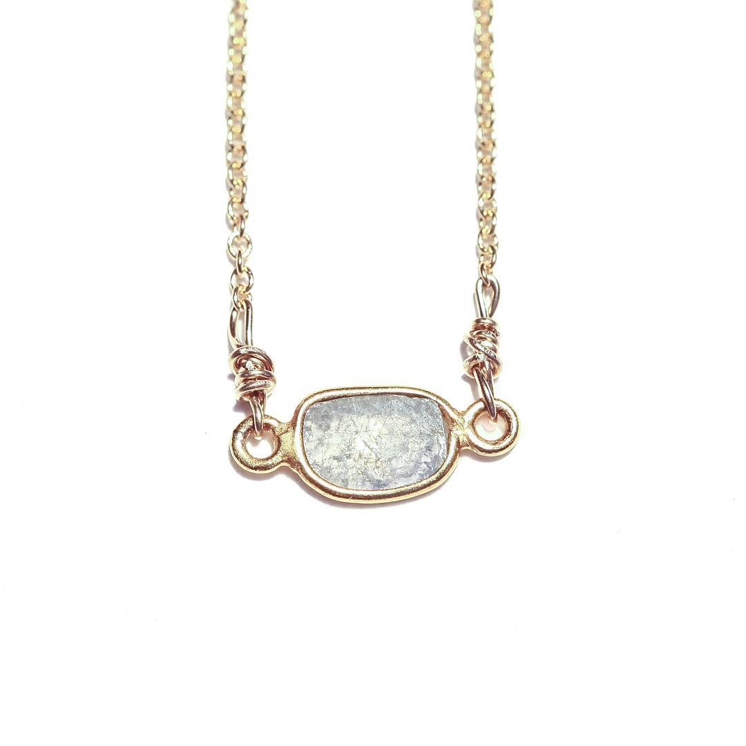 Vintage Glam White Diamond Slice. Available in store now.  #nynow #juliaszendrei #diamondslice #diamonds #capecod #marin #sfmade