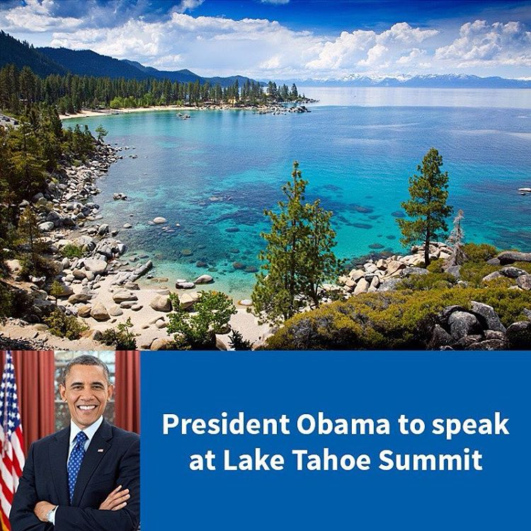 The announcement that President Obama will be speaking at the Lake Tahoe Summit could not come at a better time for efforts to protect Lake Tahoe. http://keeptahoeblue.org/pres-obama-summit (Photo by @tahoespain )