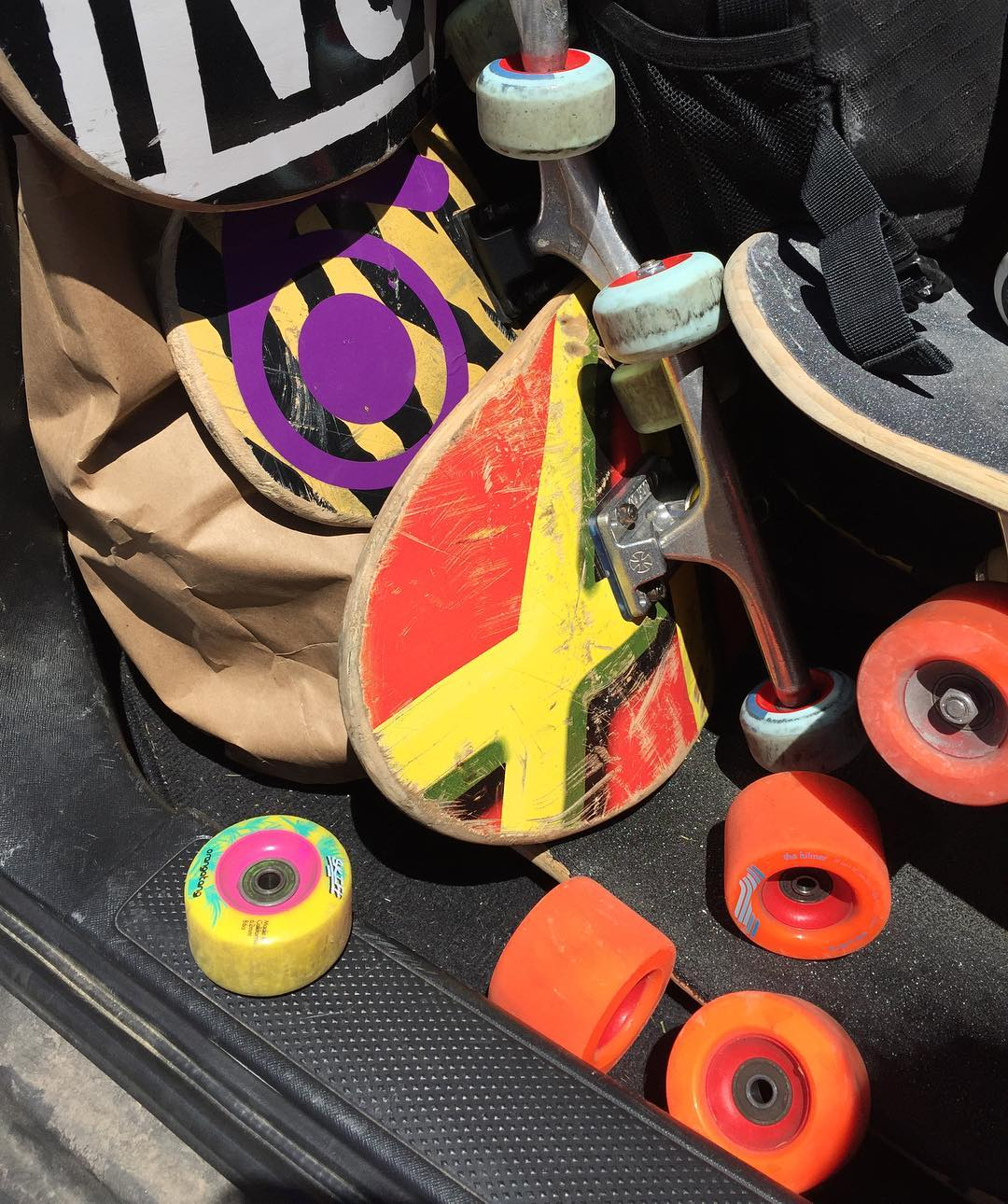 The trunk of #OrangatangAmbassador @alex_colorito this past weekend was packed with fun.