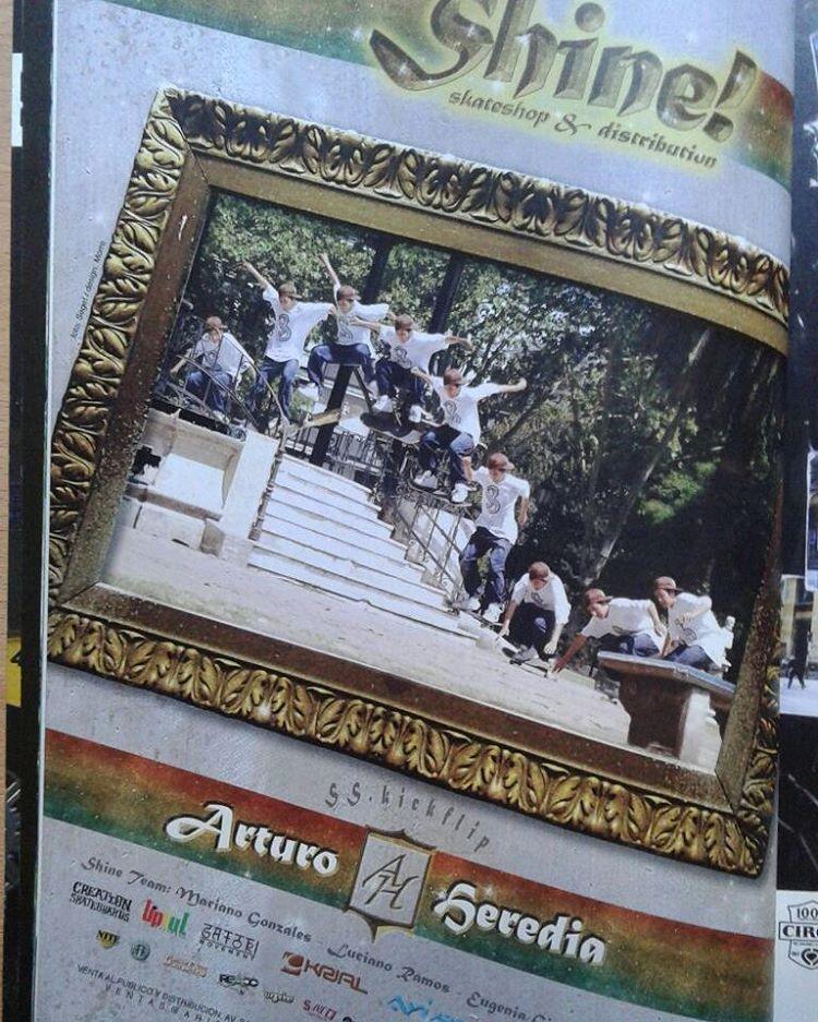 @arturaptorheredia año 2008 publicidad #shineskateshop en @revista_buenos_muchachos