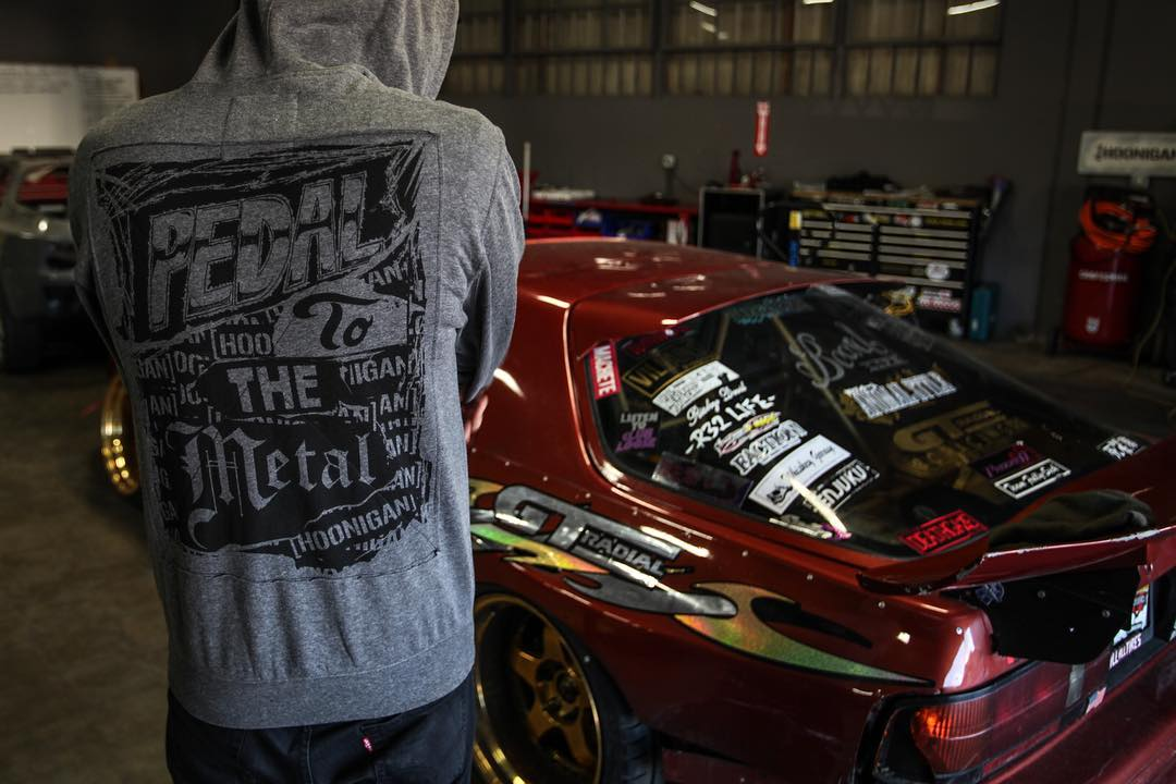 At the Donut Garage with the Pedal to the Metal hoodie - available at #hooniganDOTcom