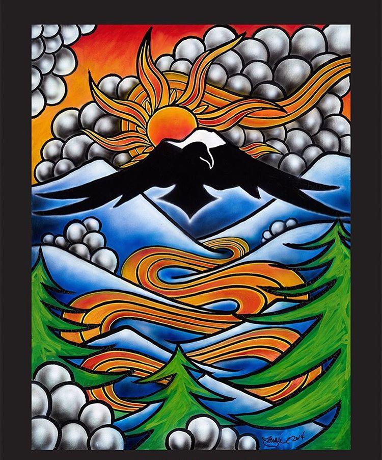 The Weekly Good over here at ye olde Asymbol is the @jamiemlynn Mt. Baker Banked Slalom poster. 'Tis 30 bucks and well worth it. Info in profile.  #theweeklygood #jamielynn #lbs #mtbaker #asymbol #asymbolart