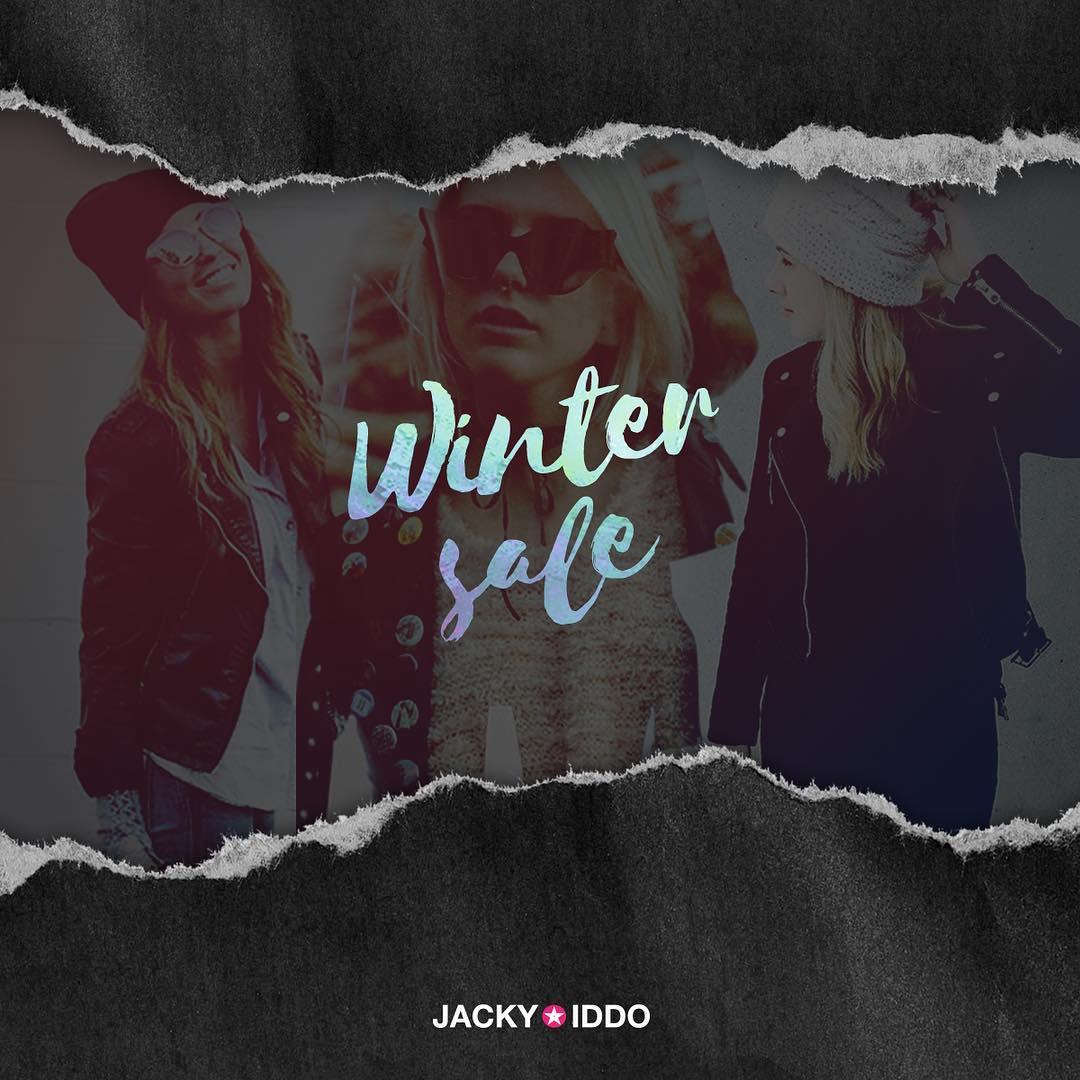 ❄️ WINTER SALE ❄️ Empezó la temporada de liquidaciones en #JackyIddo. Hasta 50% off!