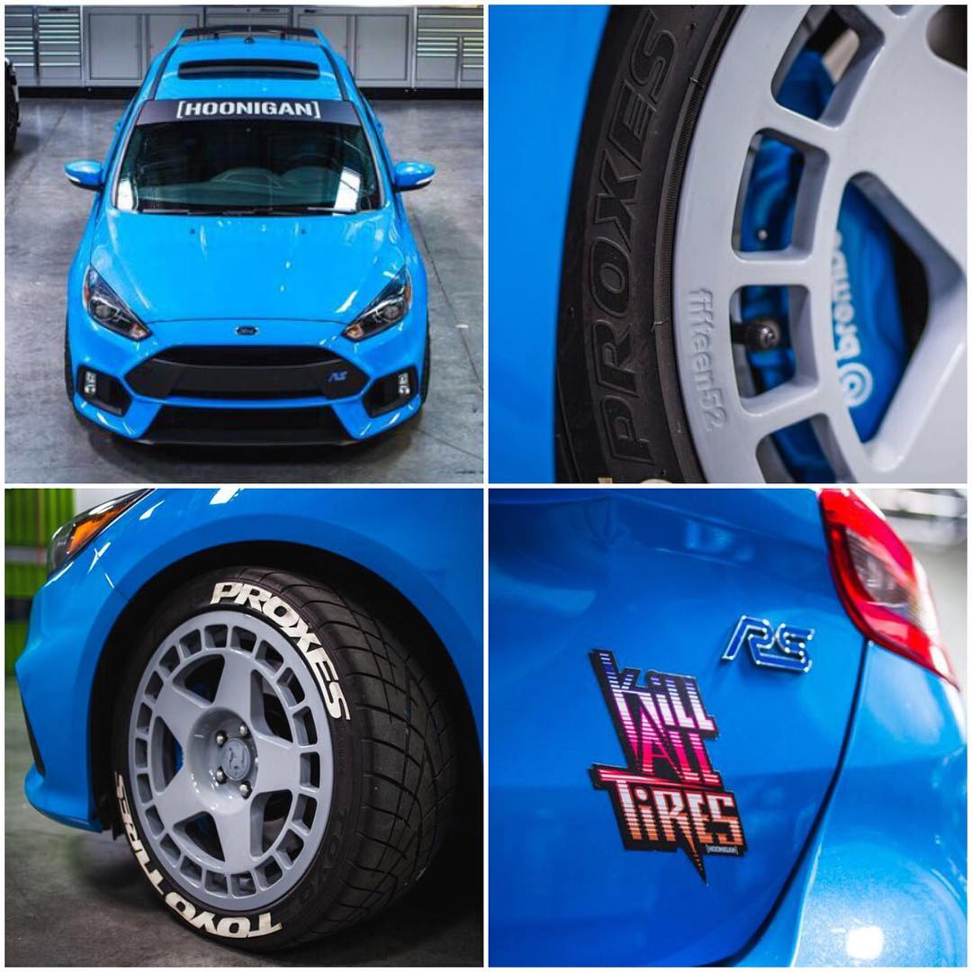 A few details on my new Ford Focus RS daily driver. #FordFocusRS #toyomeats #groupBinspiredrims