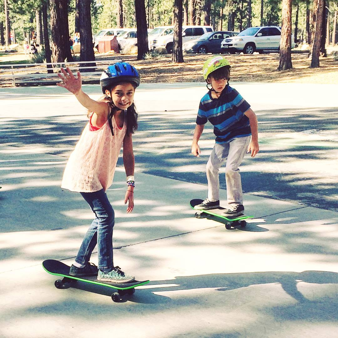 Learn to #Skate #summer camps are underway in #Tahoe ! @daffyboardco is supplying our youth with lessons and boards they'll be able to ride for years to come