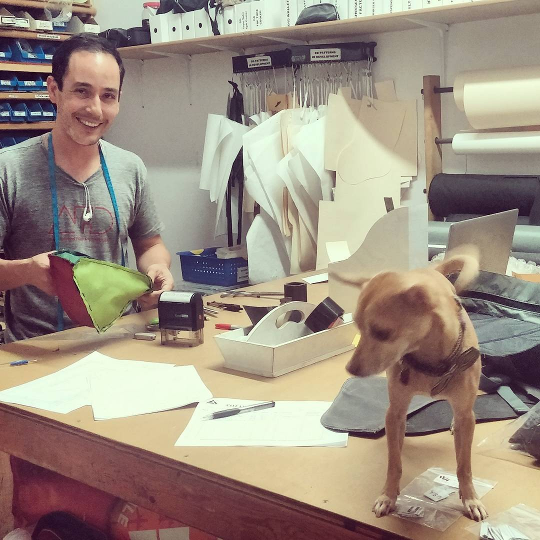 This time it was a #tiny #dog helping with the new #productdesign,  always good to have a friend to measure and cut with!