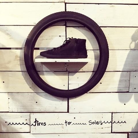 From an old tire, a kick ass shoe arises ✨ #Indosole #TiresToSoles #SolesWithSoul #KotaHighTop