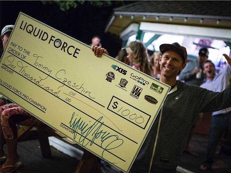 Winner Winner!!! @cztommy taking home the win of the 1st annual Liquid Force Pro Free Surf event at Lake Minnetonka. This was a surf event for the top wake surfers in world with a free ride format and rider judged.  #manymoretocome #surfsup...