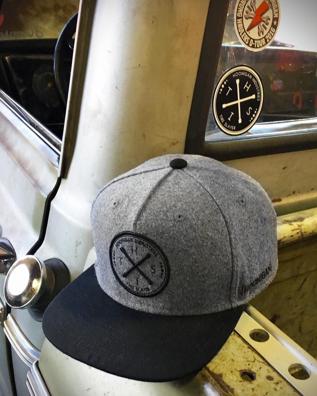 Make sure to snap up this brushed wool paneled HITS SnapBack. Head over to your local @lids4hats and #supporthooniganism.