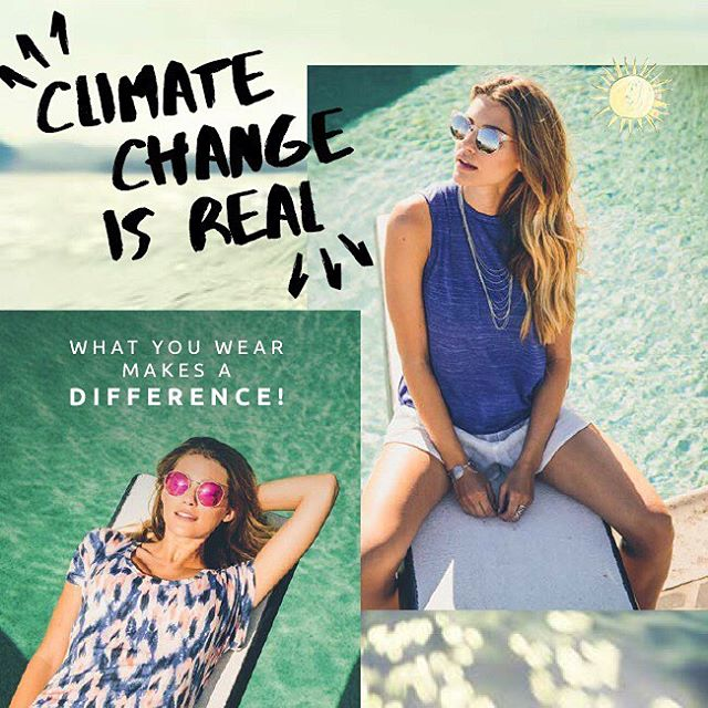 Climate change is real. Shop sustainably and make a difference. #climatechange #livesustainably #giveashit