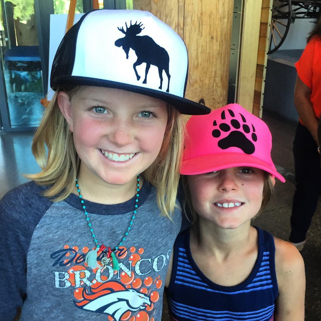 Some happy customers rocking the new Spirit Series hats I put together for the locals sale today at the Moose Visitor Center.  #avalon7 #liveactivated #spiritseries #handcraftedinthetetons www.avalon7.co