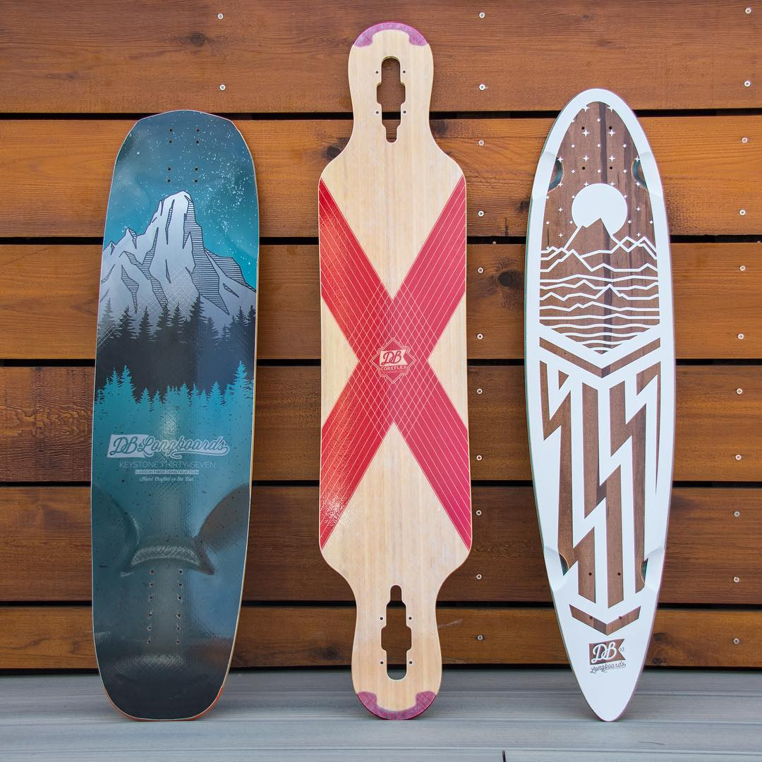 The Keystone, Compound and Cascade ready for a session. Check these boards out at DBlongboards.com.  #dblongboards #longboard #longboarding