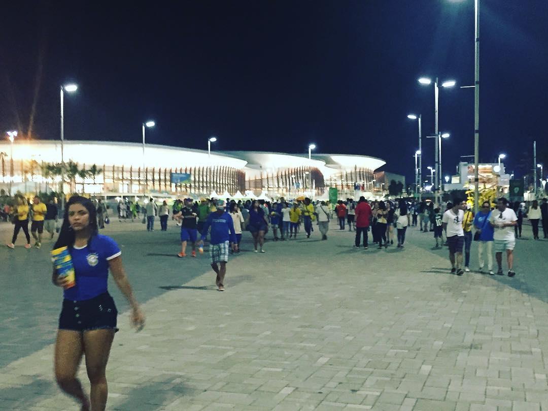 Ayer paseando por el Parque Olímpico antes de Argentina vs Croacia #Rio2016 #Olympics