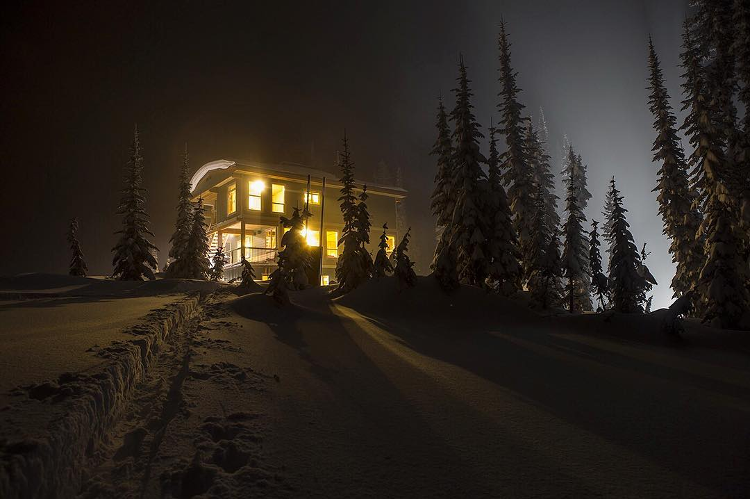 "In a dream land at Sol Mountain Lodge during the filming of DPS Cinematic's, ""Inversions"", with @oskar_enander"