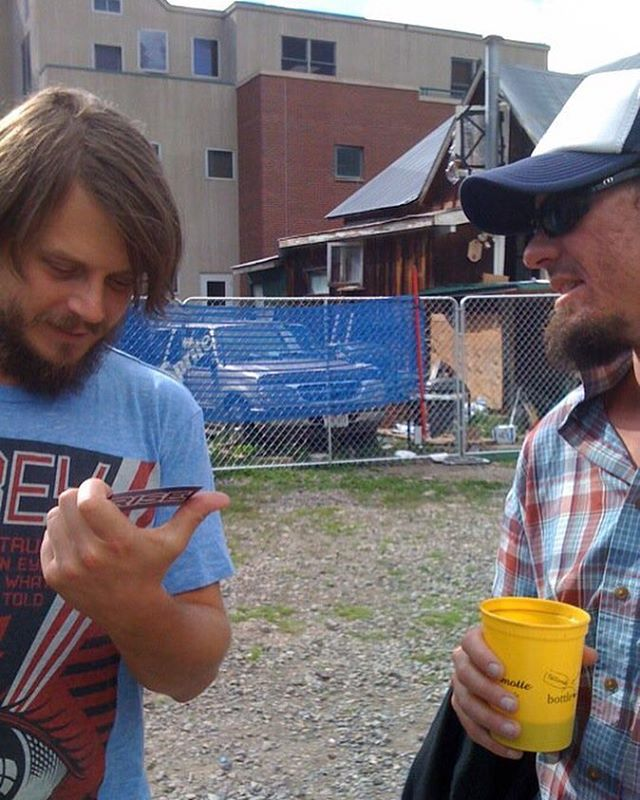 #tbt to that Time we gave @marcobenevento22 a Rise tshirt in Telluride Colorado after a benefit show when Phish played there. August 2010. Marco, you need a new one? Hit us up. #risedesigns #risedesignstahoe #telluride #vanlife