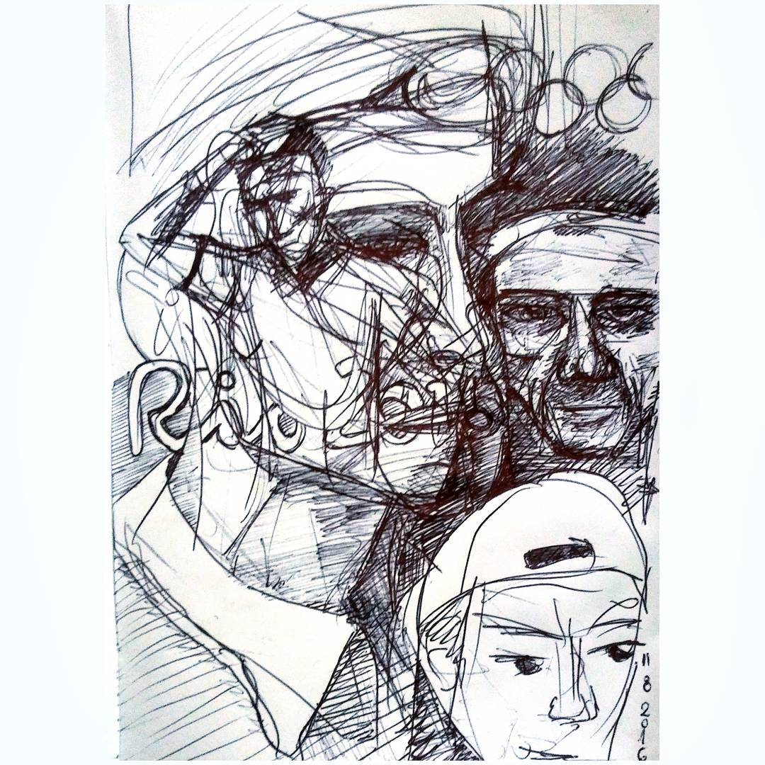 A cuartos no máss. #dibujo #drawn #drawings #sketch #sketching #juanmartin #delpotro #vs #taro #tennis #rio2016 #jjoo #argentina #arg