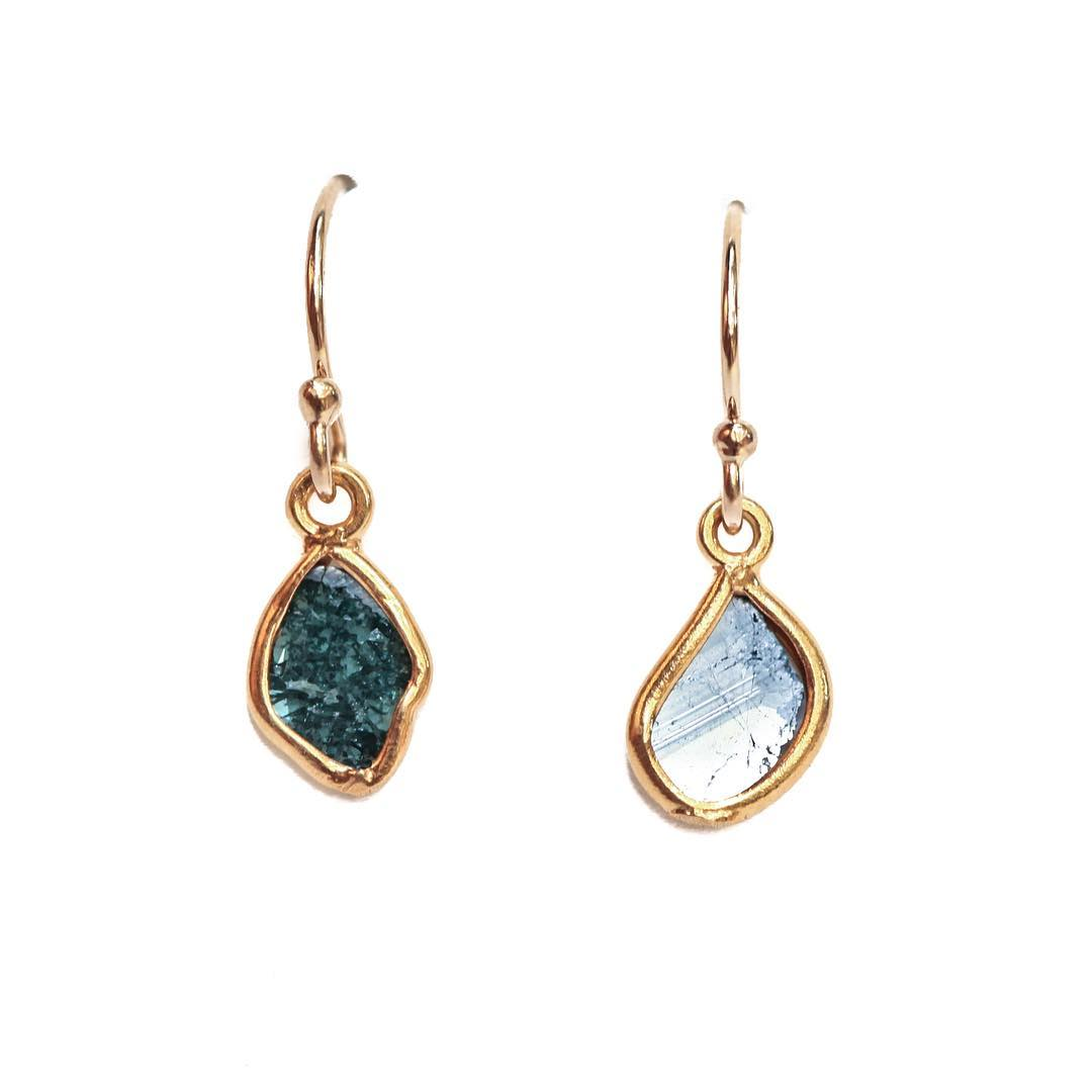 Blue Diamond Slice Earrings.  The best #gift ever