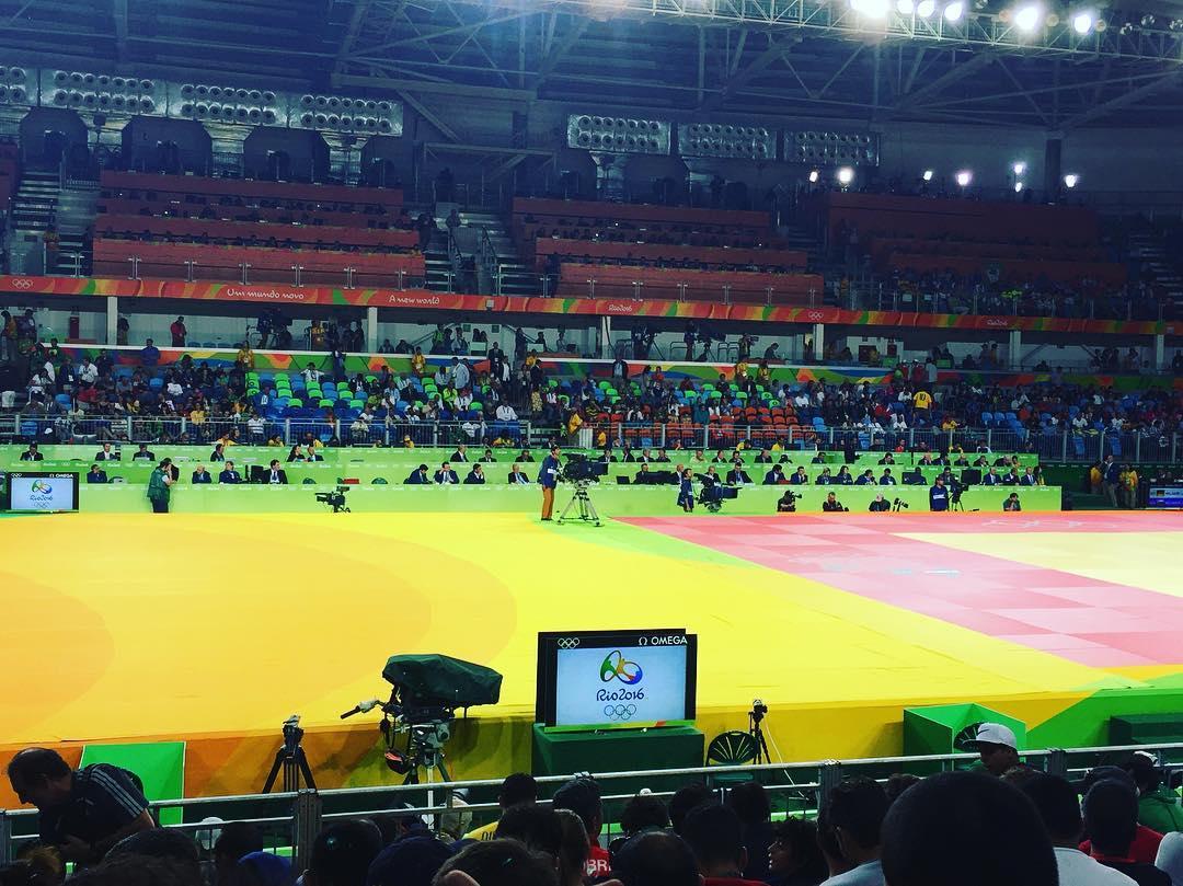 Hoy tocó ver las finales de judo en el Arena Carioca 2 #Rio2016 #Olympics