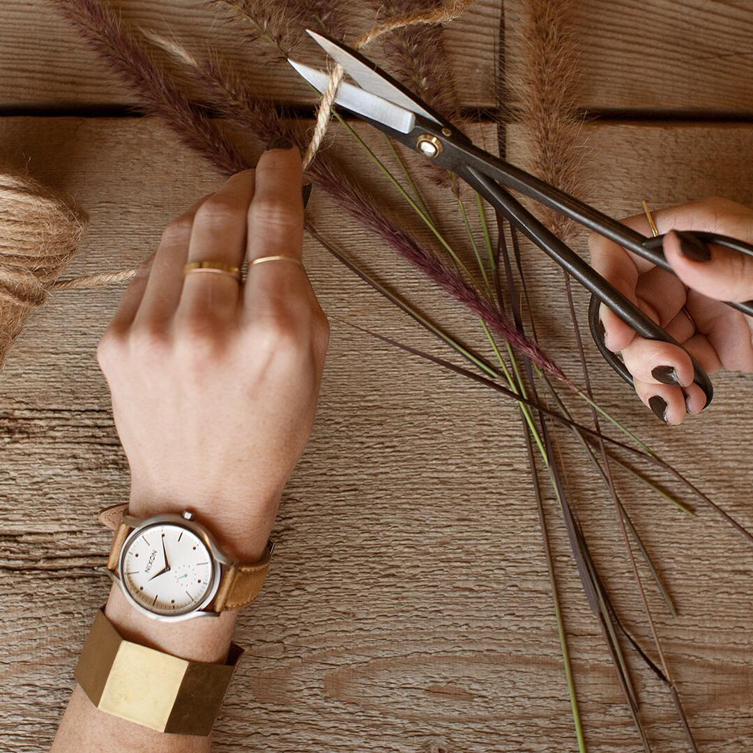 Taking the time to get the details just right. The #SalaLeather. #Nixon