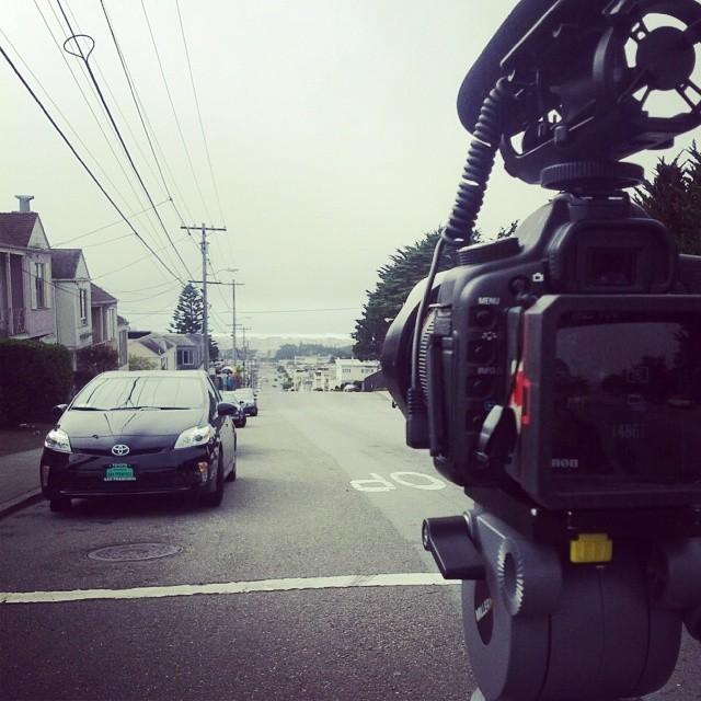 Film Sesh #Freebord #SF #Snowboard the streets