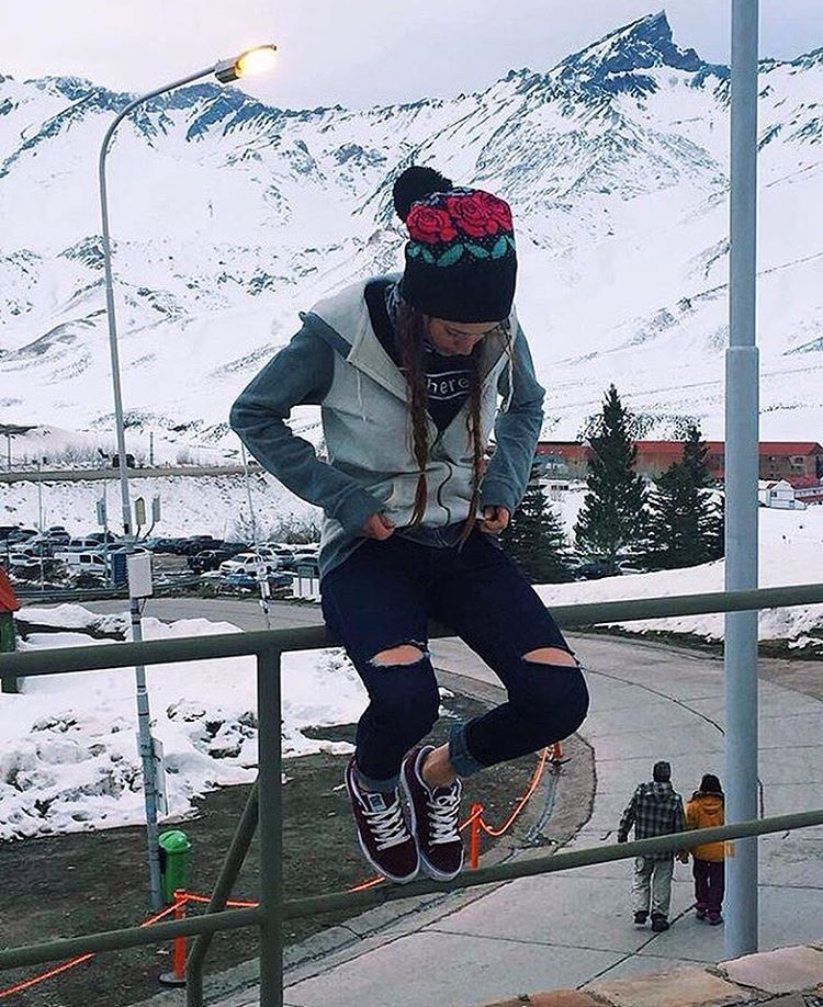 Snow Time ❄️ @agustinadibenedetto con sus Spiral Shoes