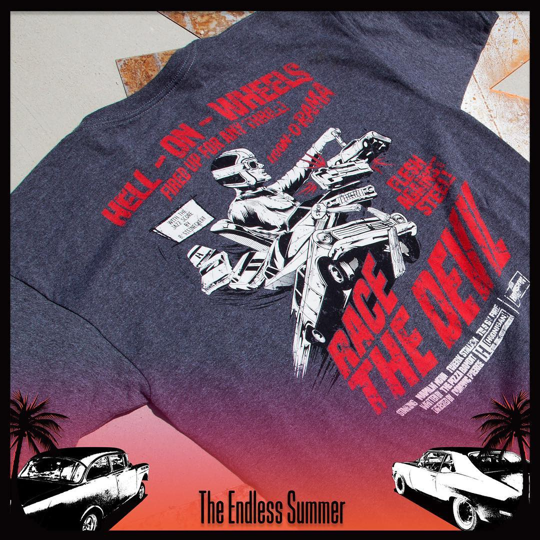 """Get your hands on the all-new Hell on Wheels tee during the Endless Summer event!  _________ The Endless Summer: Killer deals on rad gear. Plus, we put up a $500 HNGN shopping spree to one lucky winner. Only on #hooniganDOTcom"