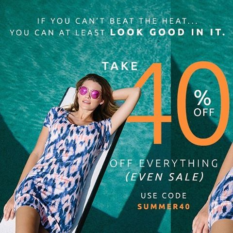 Start your weekend early with 40% off site wide (yep, you read that right) #summer40 #livesustainably #giveashit