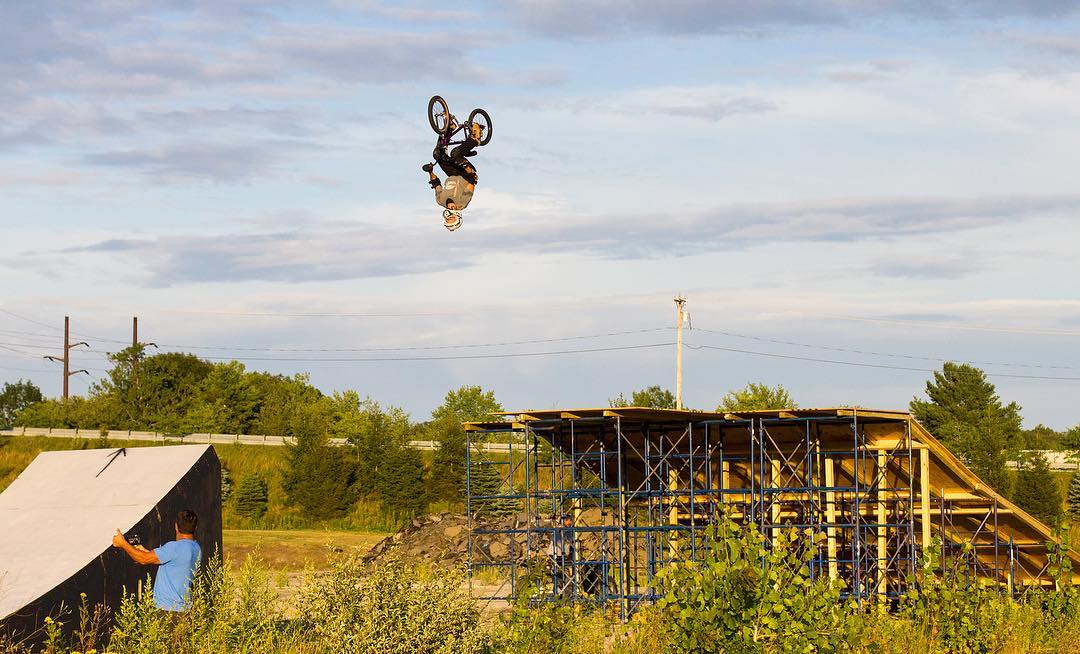 44-year-old @KRobBMX will attempt to set the longest power-assisted bicycle backflip world record this weekend!  It's goin' down live Sat., Aug. 13 at 5 pm ET on @ESPN.