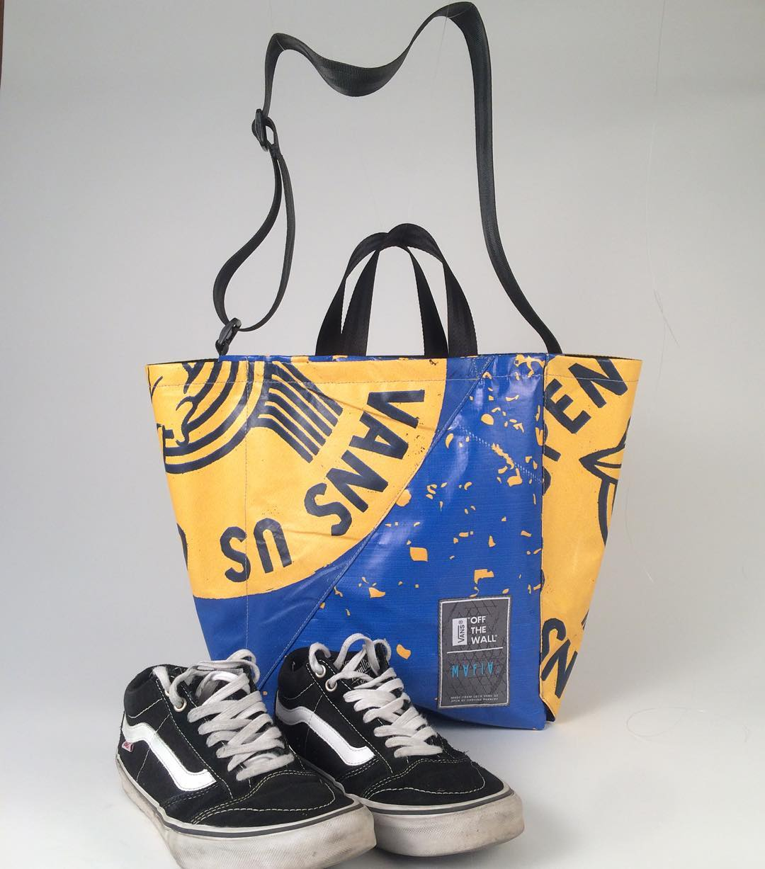 #tbt a collaboration story // @Vans x Mafia. A series of bags we made out of the @usopenofsurf banners! A new edition coming soon? Stay tuned for details.