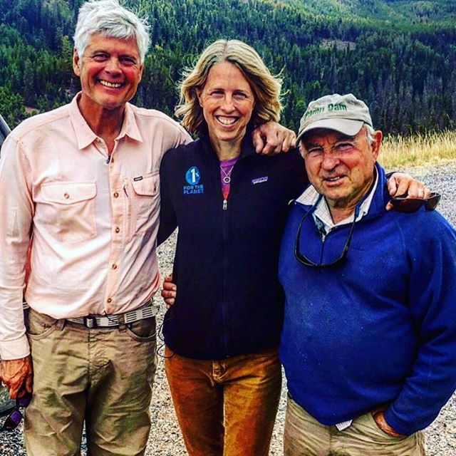 Kate has been working hard out West climbing mountains for #climatechange and spending some quality time with our founders, Yvon & Craig. Big thanks to @tetongravity for helping us capture these fine moments. New footage coming your way soon. #giveback