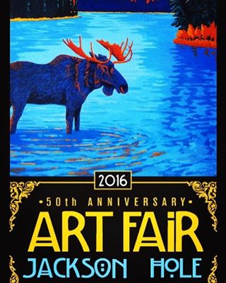 Stoked to be part of the 50th Anniversary Jackson Hole Art Fair!! Come down to #millerpark support some bad-ass local artists! @art_association_jackson_hole @giverjh