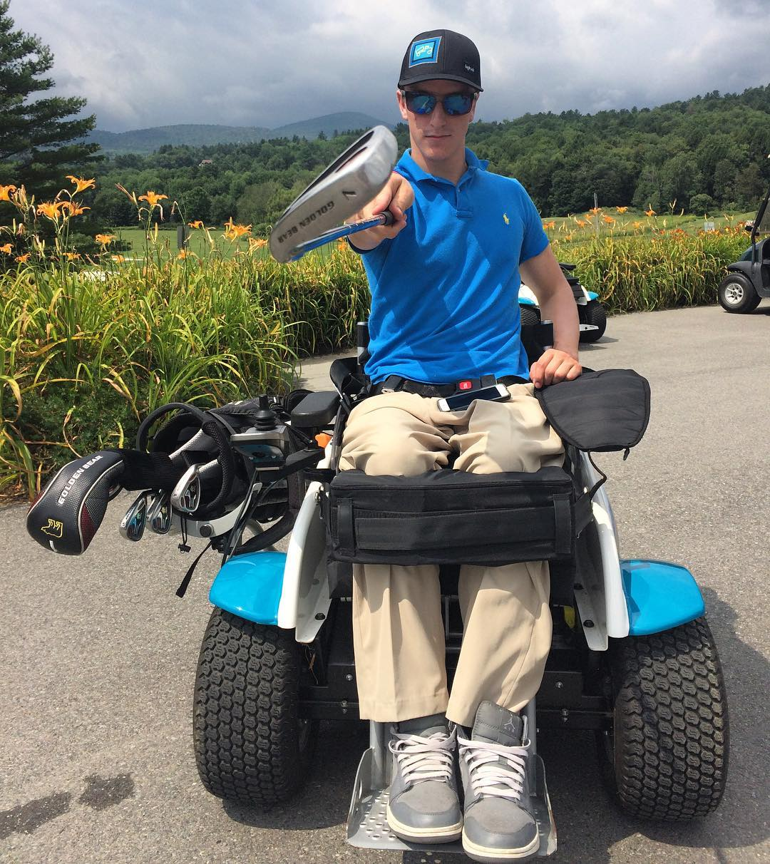 #highfivesathlete #newhampshirenick about to tee off in Vermont!! #charitygolf #highfivescharitygolf