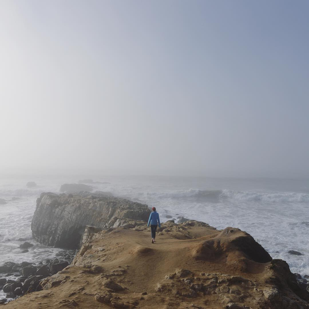 Rocks, fog, and ocean on the California coast only an hour from the office. California is our backyard and our laboratory. #findyourpeak