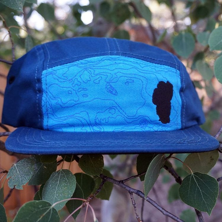 The Tahoe Basin Camper Hat - 5 Panel - it's all about Lake Tahoe with this hat. Grab one for your adventures today! www.risegraphics.com ⚡️#risedesigns #risedesignstahoe #laketahoe #camperhat