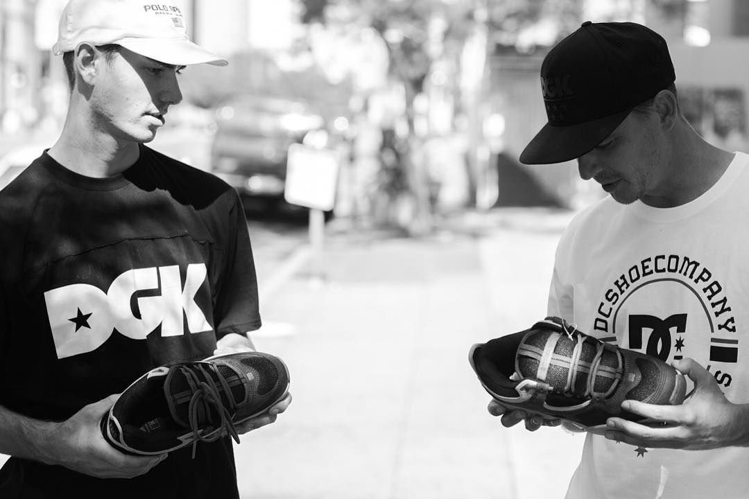 @johnshanahanz and @joshkalis reminiscing about the 'Golden Era' of skateboarding and the OG Kalis 1. Watch John and Josh in the @dgk x @homebase610 'Golden Era' video and hit up the release party tonight at Homebase in Bethlehem, PA if you're in the...