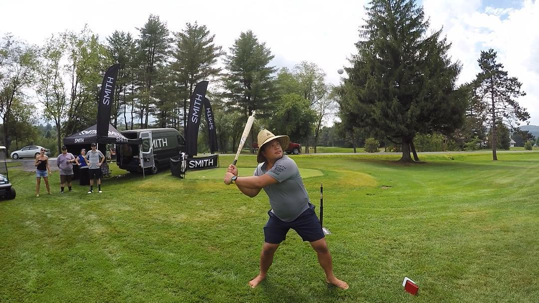 @gopro shares the @smithoptics Baseball Bat Long Drive 'mini game' #highfivescharitygolf #gopro #NPOsummergames