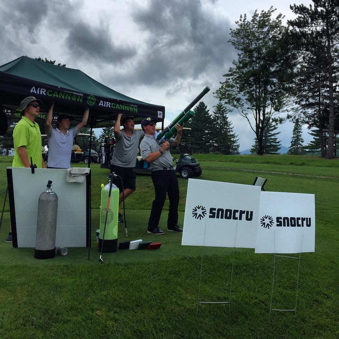 @snocru Air Cannon 'mini game' is going off! #highfivescharitygolf #highfivesfounder #aircannon #NPOsummergames
