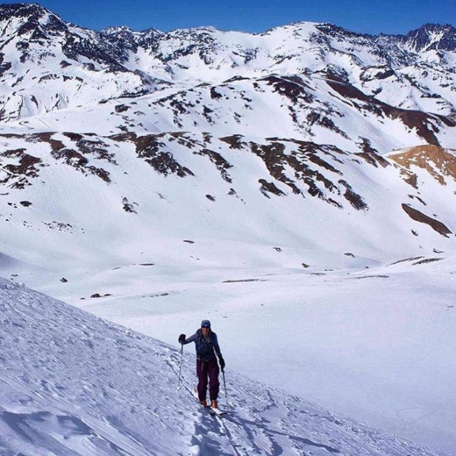 @tahomajillian knows how to itch the snow scratch in August. She's in @skiportillo with @stateofthebackcountry earning her turns and enjoying Southern Hemisphere winter weather.