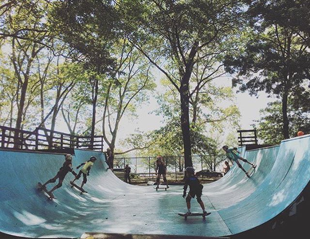 Come skate in the shade today at Riverside Skatepark