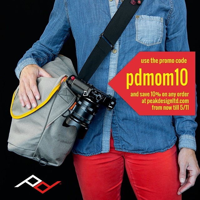 "Mother's Day Sale! Go to peakdesignltd.com and use the promo code ""pdmom10"" for 10% off everything from now till Sunday."