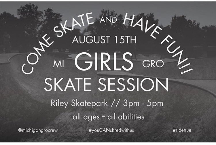 Join @michigangrocrew Monday to skate Andrade fun ☀️