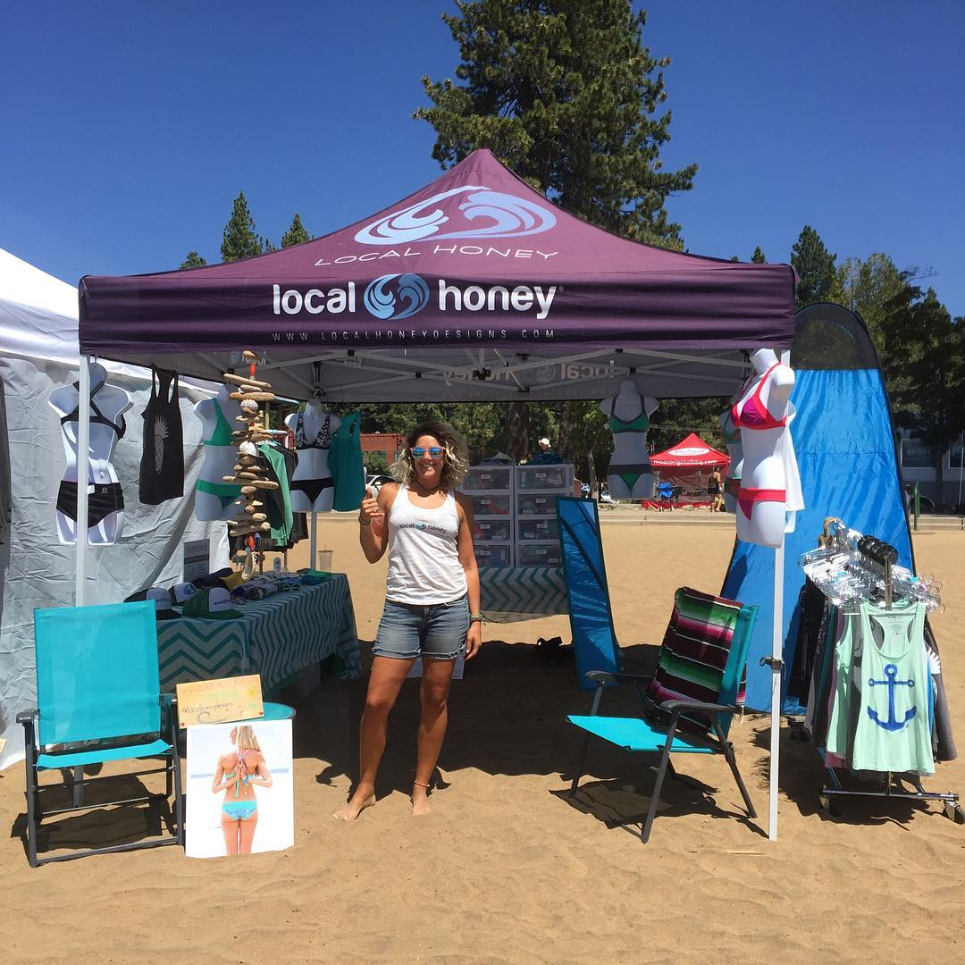 We are stoked to be back in Lake Tahoe at the 10th annual Tahoe Nalu race at Kings Beach. Come on out to the booth anytime today or tomorrow to check out our reversible swimwear and apparel! @tahoenalu @andymay23