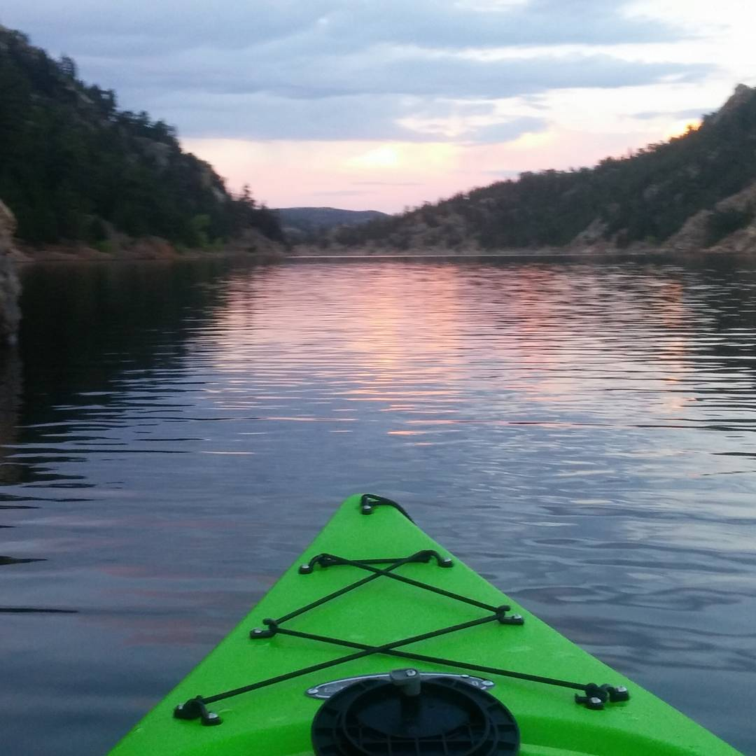 Nothing like a smooth #kayak paddle to set your mind at ease. Beautiful #summer nights please don't leave yet!