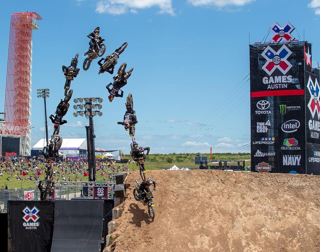 @JackoStrong slammed hard in #XGames Moto X QuarterPipe and was immediately airlifted to the hospital.  Hours later, the Australian madman came back to earn gold in Moto X Best Trick.  A behind-the-scenes look at his legendary afternoon is coming up at...