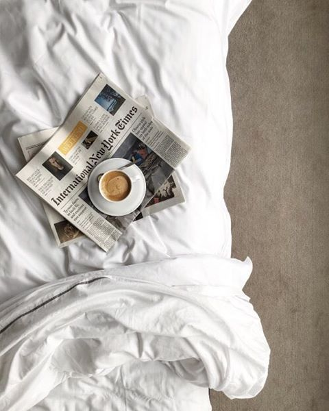 Because, #Sunday. Analog pleasures amidst tangled sheets. #stayinbed