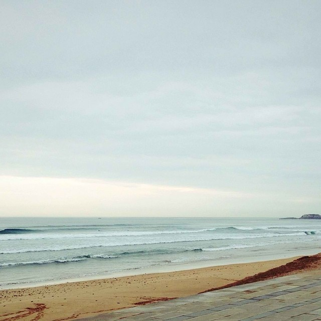 "Photo of the day from Spain: ""Back in Spain! nice session after one year out of the Basque Country!"" — Fun · Chest (3ft) · Glassy · Few People (via Luis Tena) — at Zarautz #goFlow #Spain #Surf"