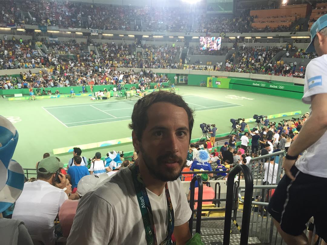 Ayer fui testigo de una gran final entre Delpo y Murray en el Parque Olímpico #rio2016 #olympics #tennis