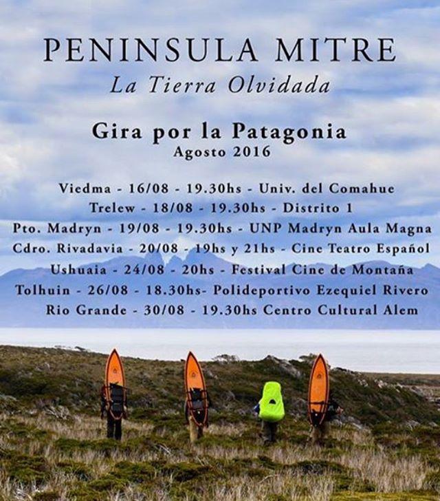 ESTAS SON LAS FUNCIONES DE PENINSULA MITRE EN LA PATAGONIA ARGENTINA. Una alegría enorme salir a la ruta con la película y compartirla en tantos lugares que pasamos años atrás.